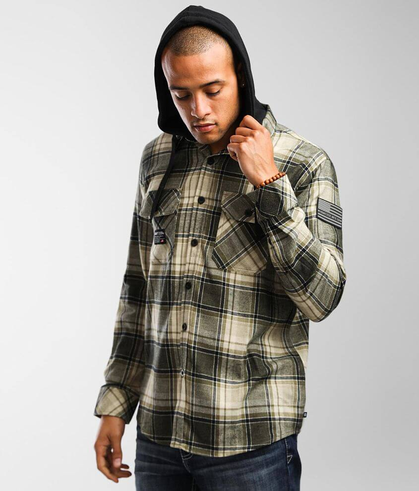 Howitzer Armistice Hooded Flannel Shirt front view