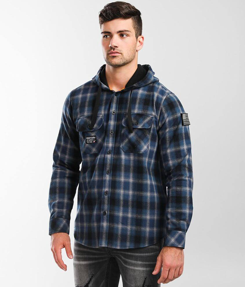 Howitzer Reprieve Hooded Flannel Shirt front view
