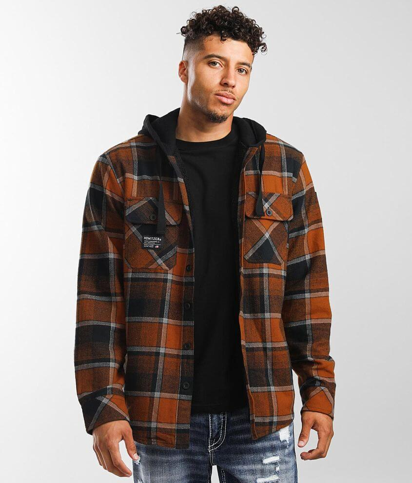 Howitzer Artillery Flannel Hooded Shacket front view
