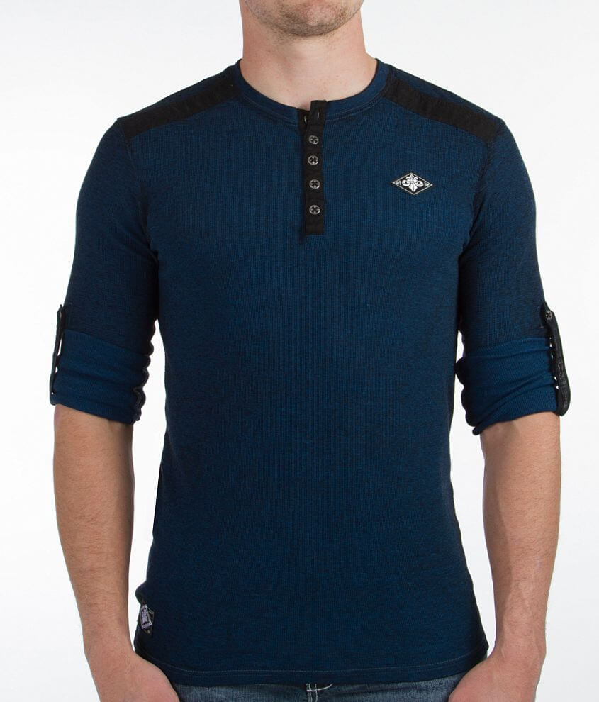 Affliction Standard Squadron Thermal Henley front view