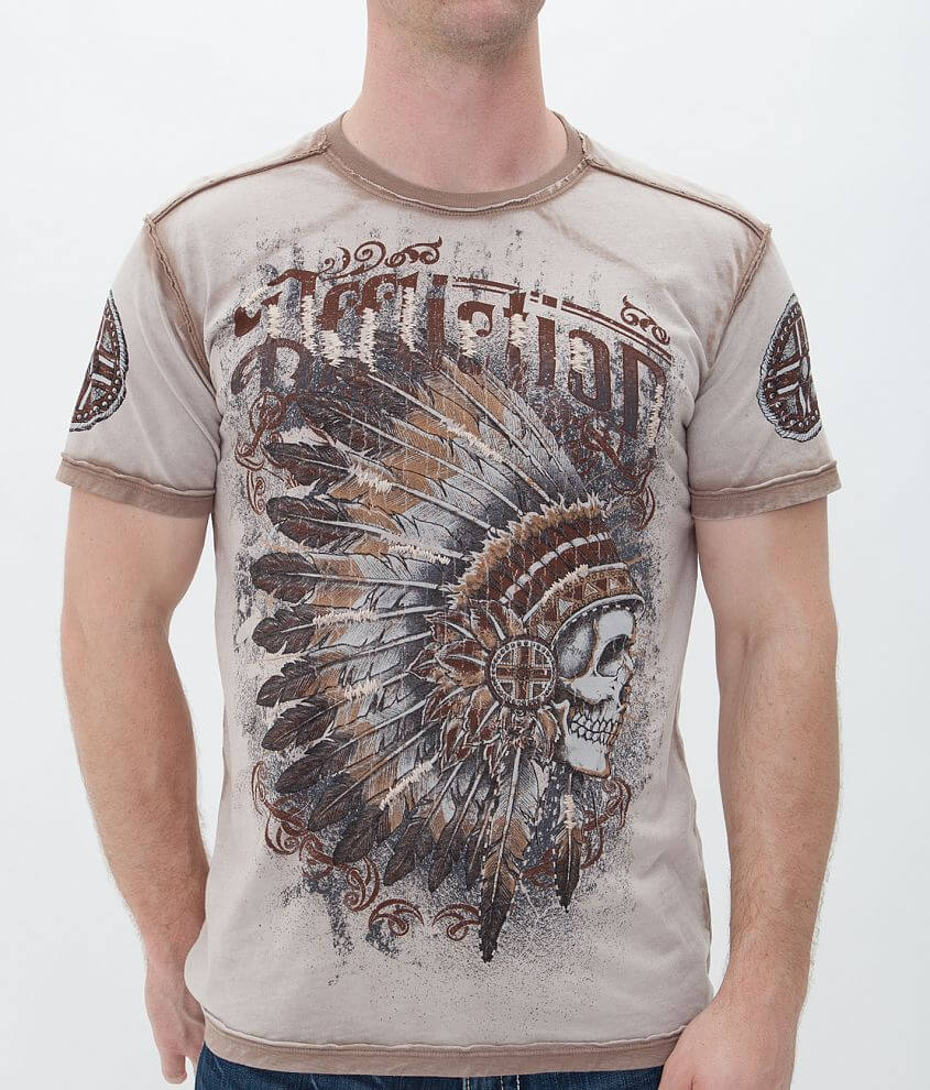 Affliction Peace Pipe T-Shirt front view