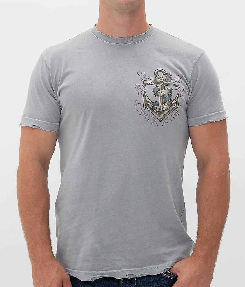 Affliction Inked Dead Man's Chest T-Shirt front view