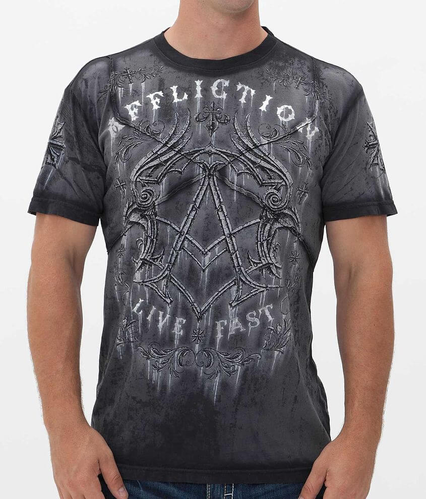 Affliction Trivial Rust T-Shirt front view