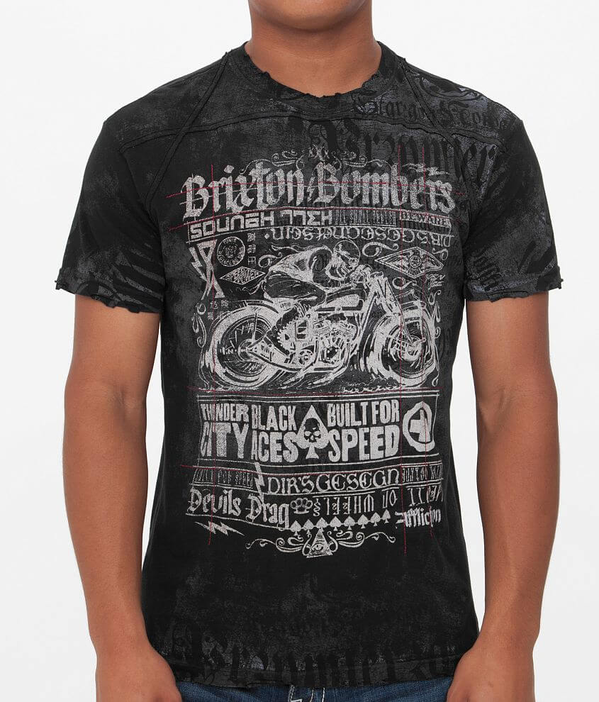 Affliction Brixton Bombers T-Shirt front view