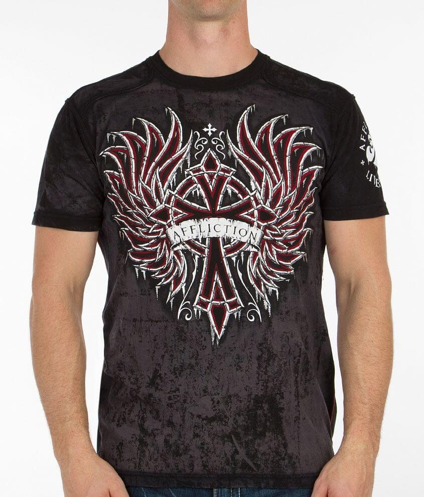 Affliction Chromatic Rust T-Shirt front view