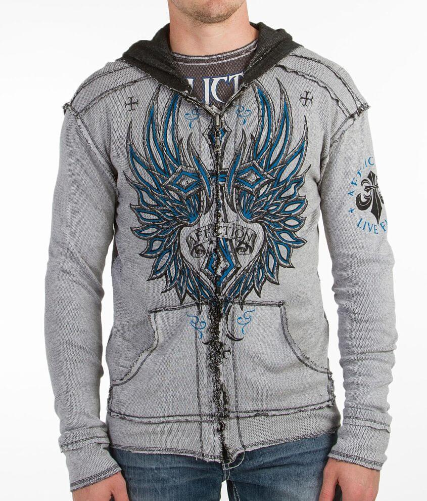 Affliction Micro Reversible Thermal Sweatshirt front view