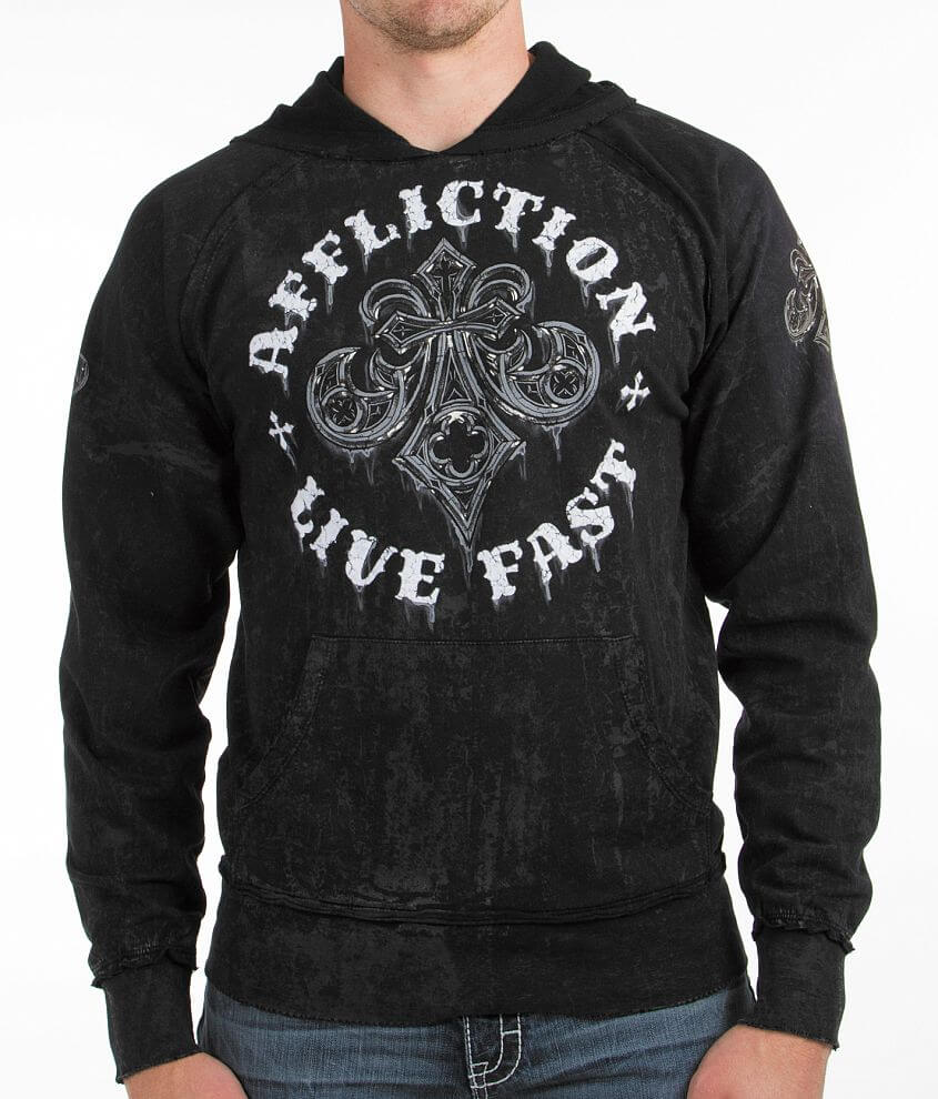 Affliction Royale Rust Hoodie front view