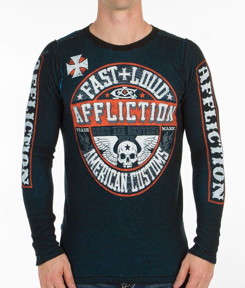 Affliction American Customs Arrow Thermal Shirt front view