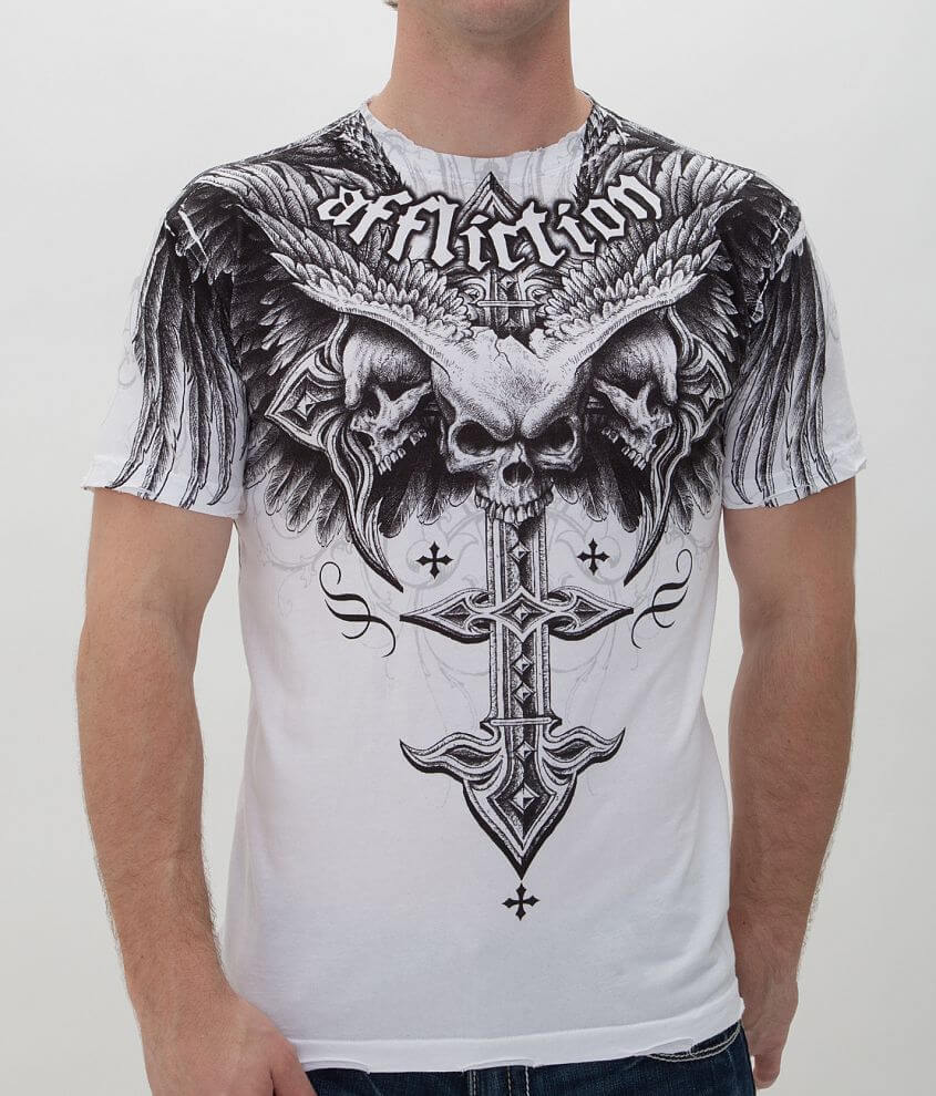 Affliction Death Eyes T-Shirt front view