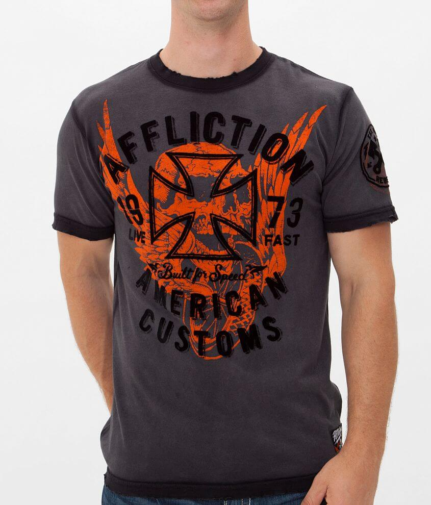 Affliction American Customs Traffic T-Shirt front view