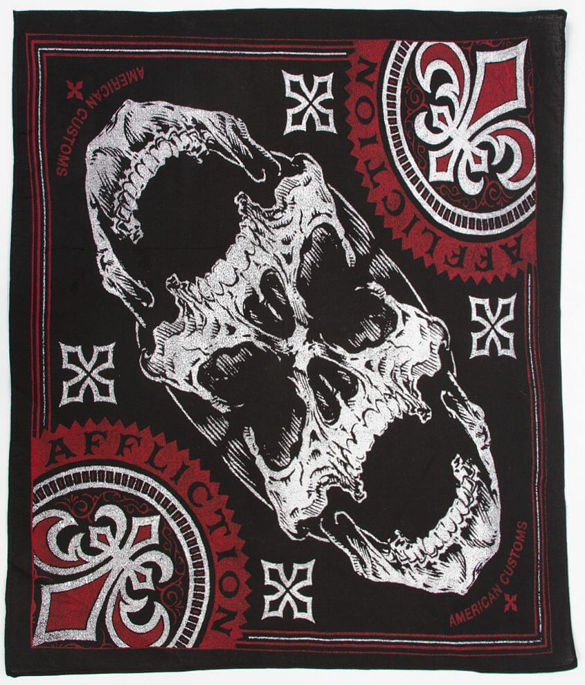 Affliction American Customs Overkill Bandana front view