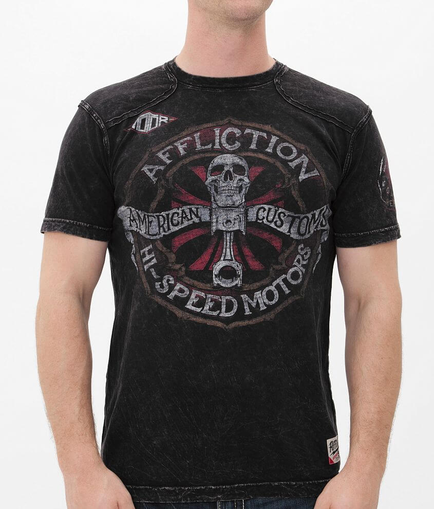 Affliction American Customs Chopped T-Shirt front view