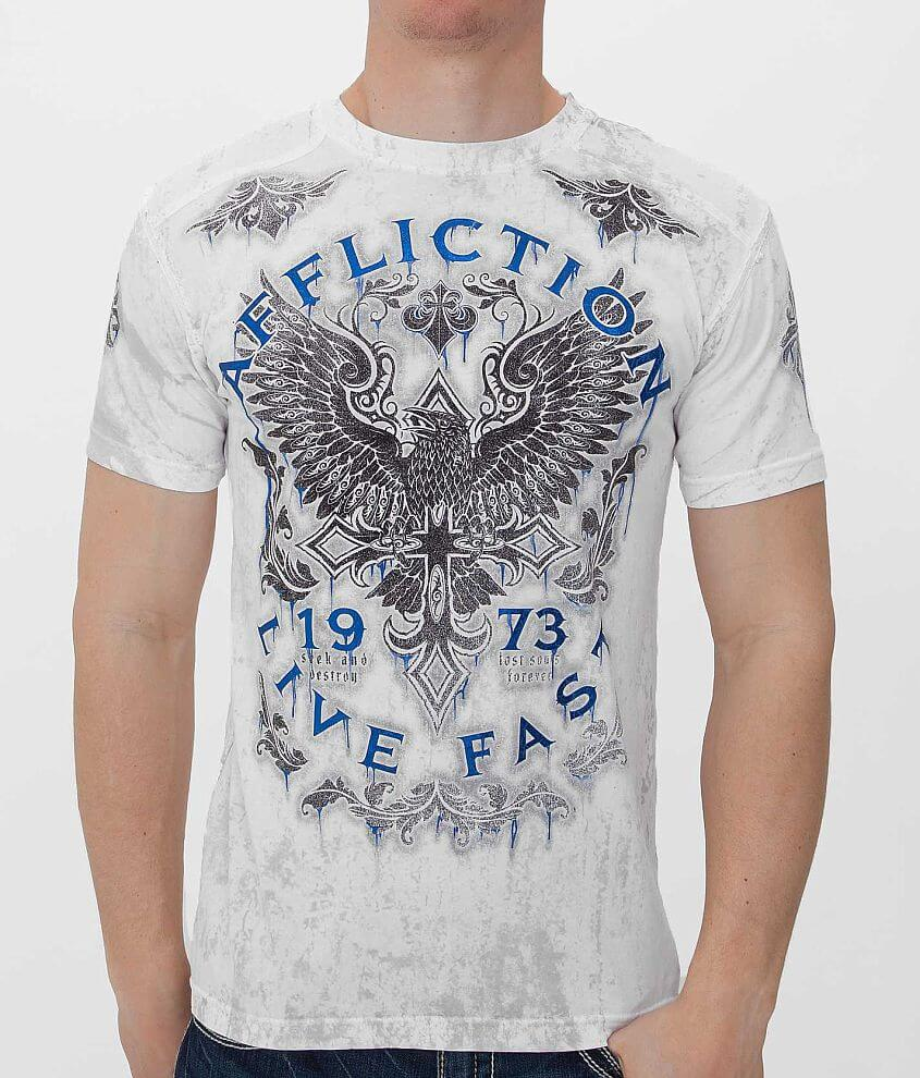 Affliction Discovery Rust T-Shirt front view