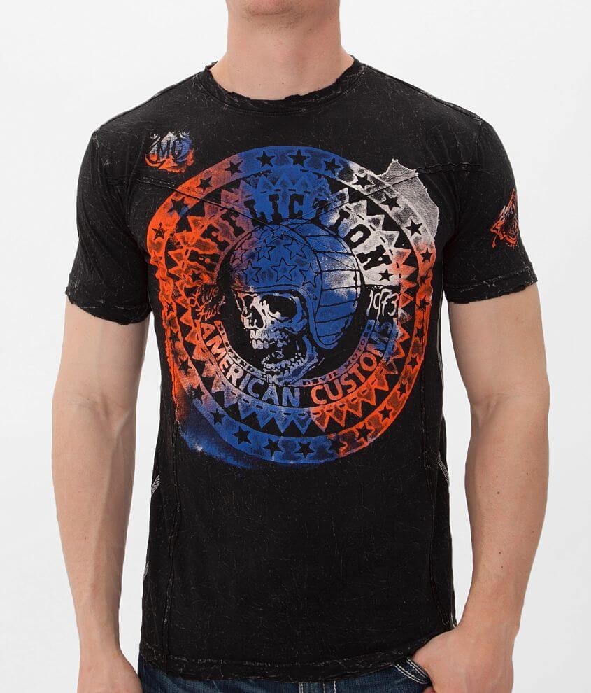 Affliction American Customs Bonneville T-Shirt front view