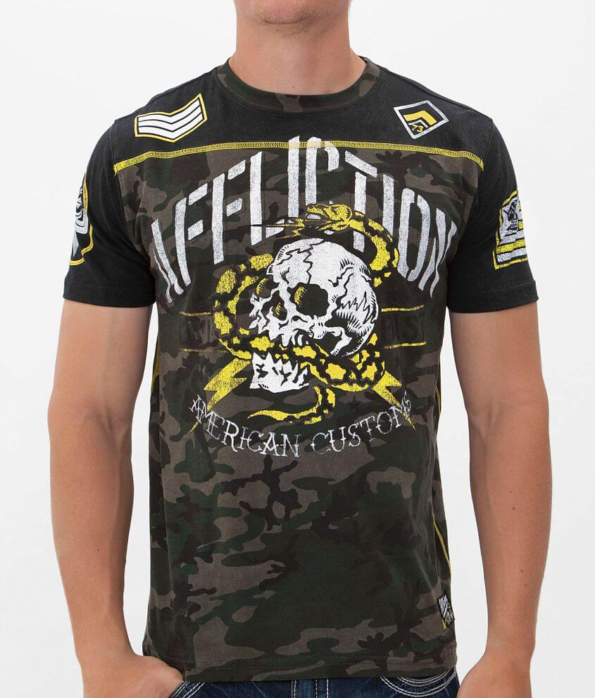 Affliction American Customs Death Adder T-Shirt front view