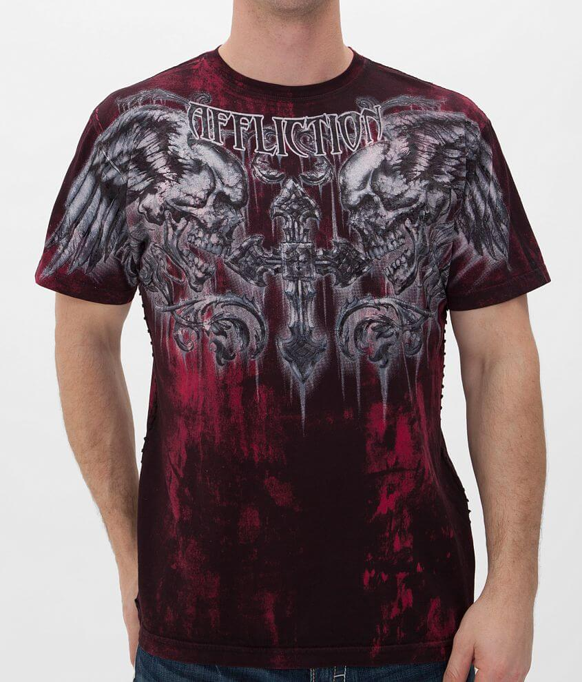 Affliction Fragmented T-Shirt front view