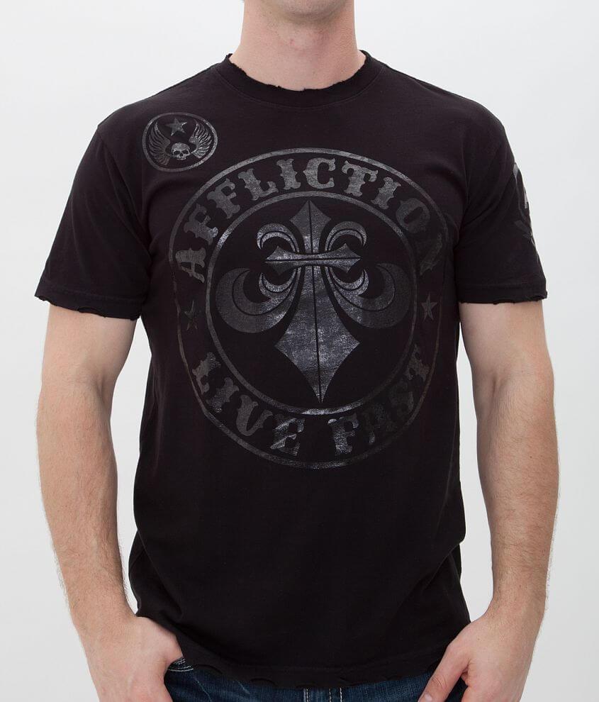 Affliction Divio Blackout T-Shirt front view