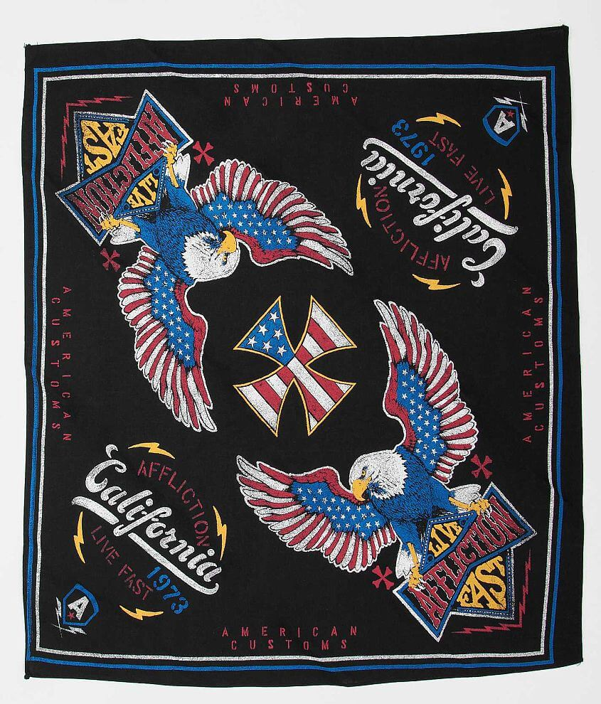 Affliction American Customs Twin Turbo Bandana front view