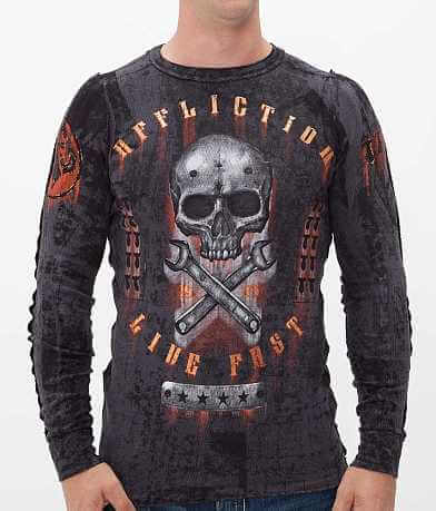 Affliction On The Tracks Reversible Thermal Shirt