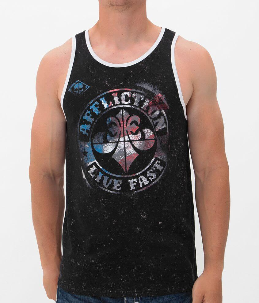 Affliction Divio Americana Reversible Tank Top front view