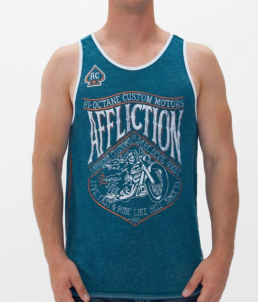 Affliction American Customs Sidecar Tank Top front view