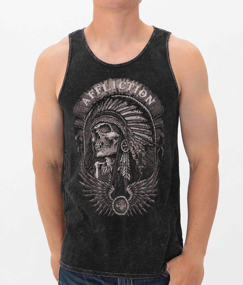 Affliction Thunderfoot Tank Top front view