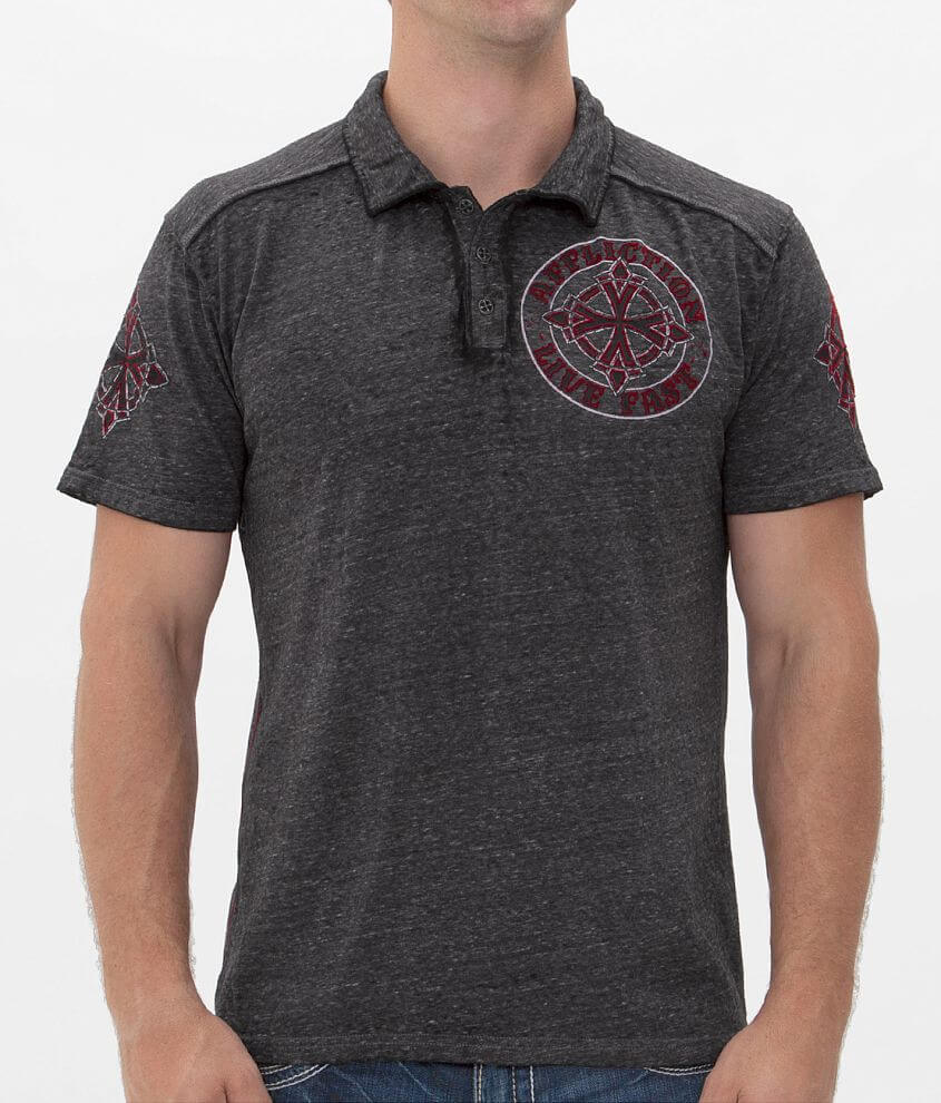 Affliction Royale Chromatic Polo front view