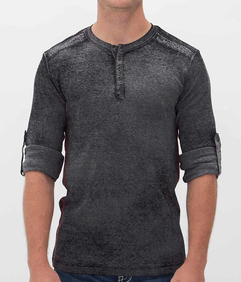 Affliction Standard Release Thermal Henley front view
