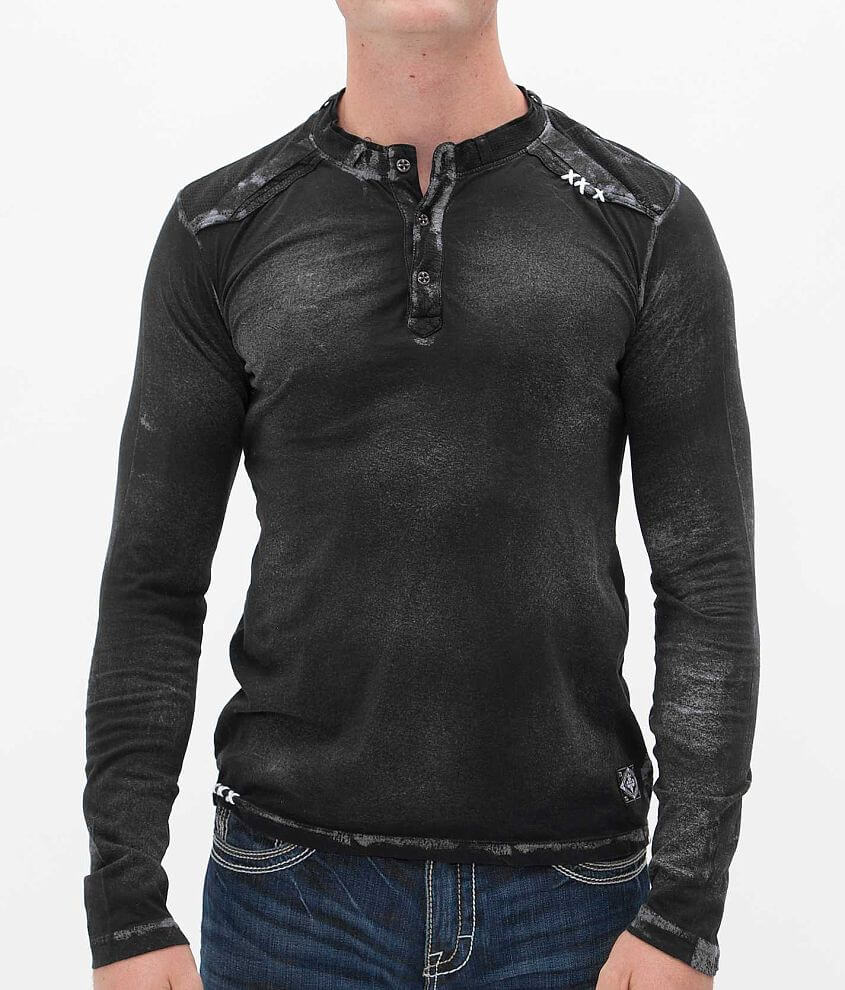 Affliction Weld Henley front view