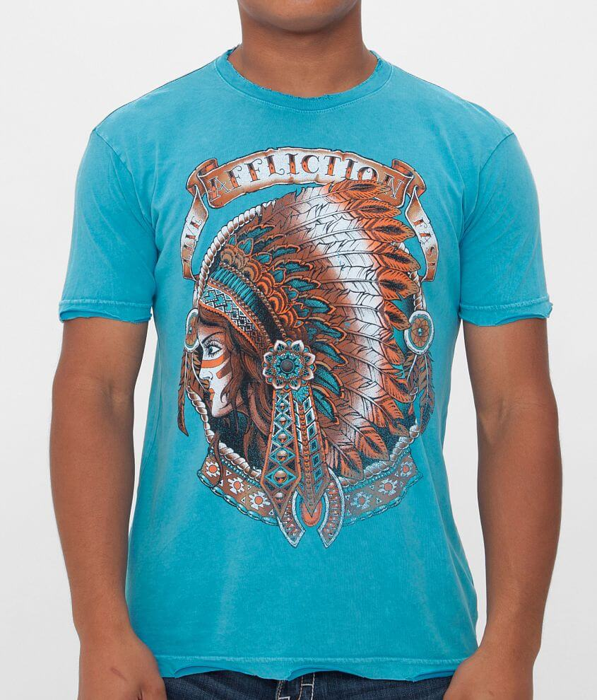Affliction Inked Heavy Feather T-Shirt front view