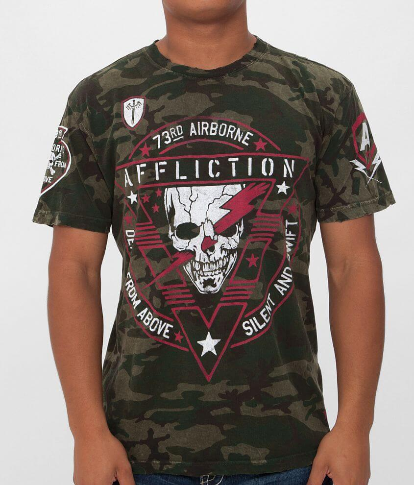 Affliction American Customs Airborne T-Shirt front view
