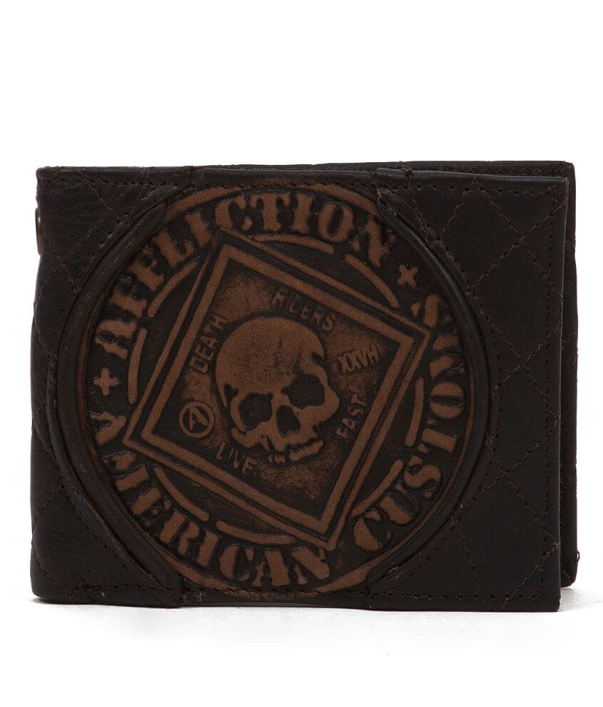 Affliction American Customs Death Riders Wallet front view
