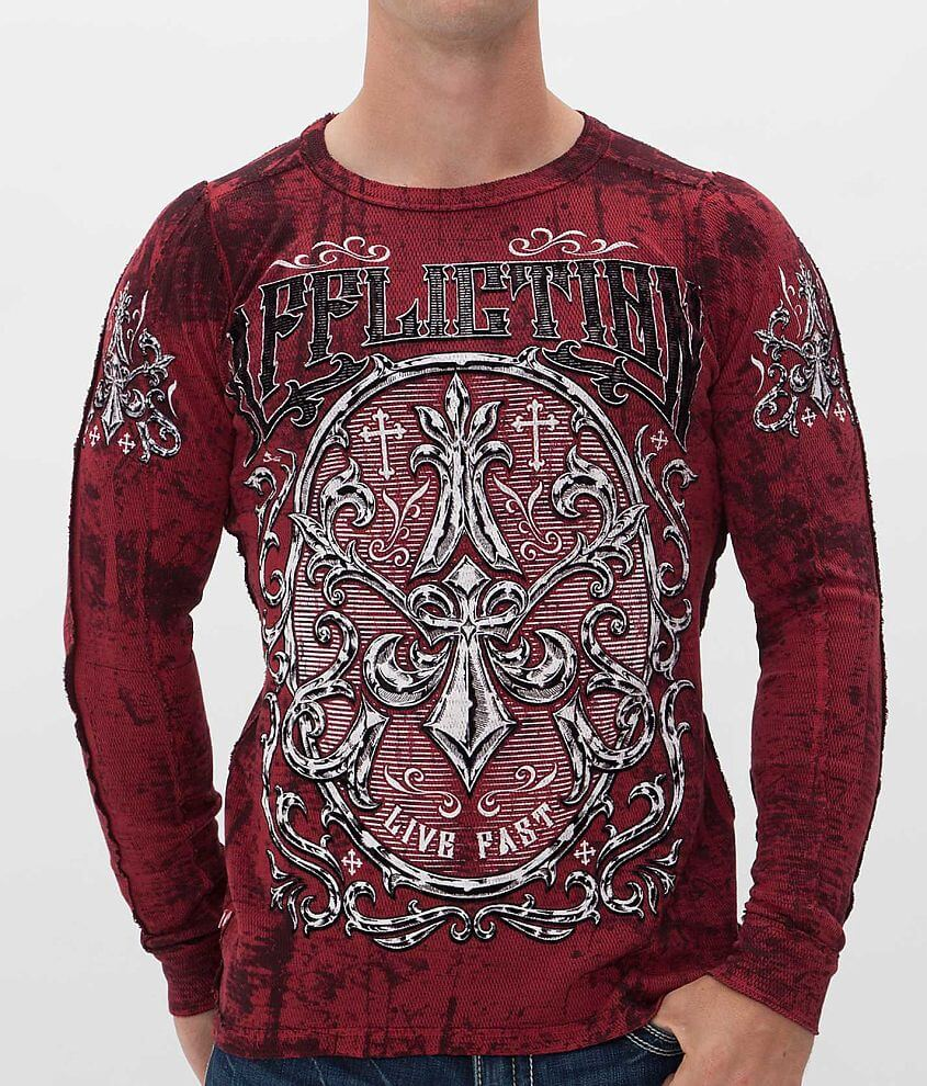 Affliction Abrasive Reversible Thermal Shirt front view