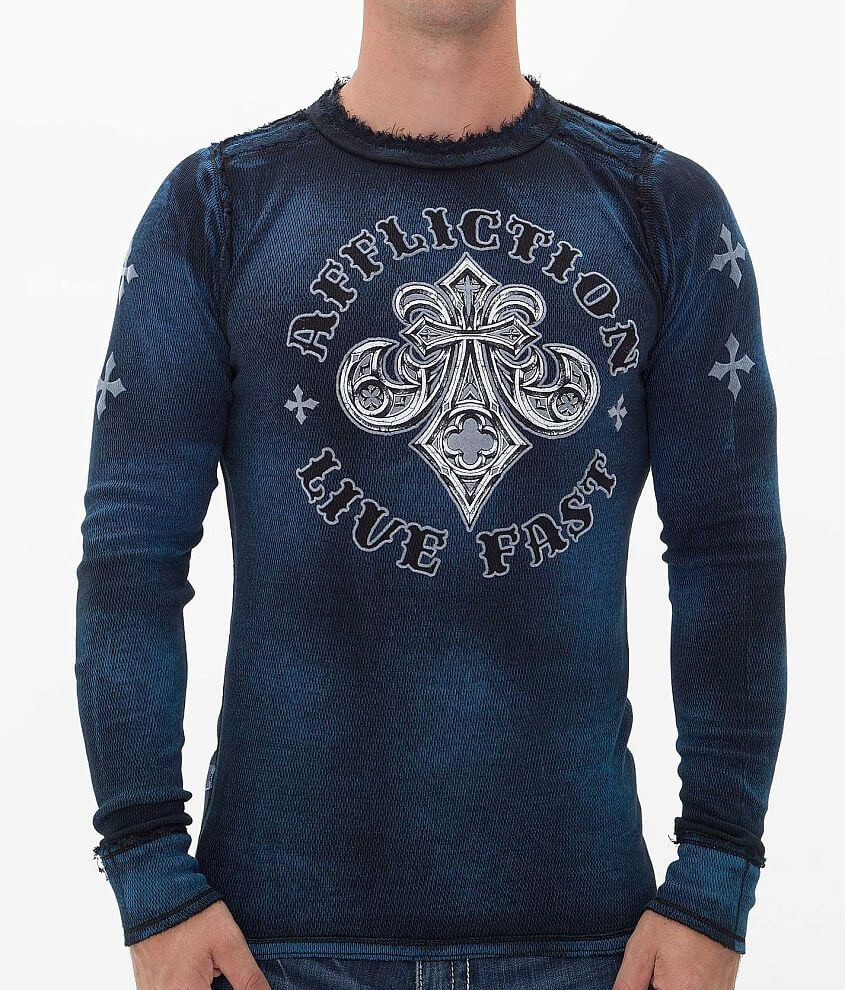 Affliction Royale Reversible Thermal Shirt front view