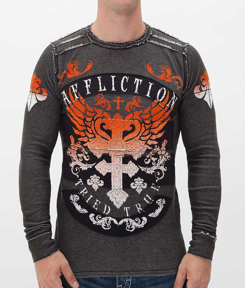 Affliction Encounter Reversible Thermal Shirt front view