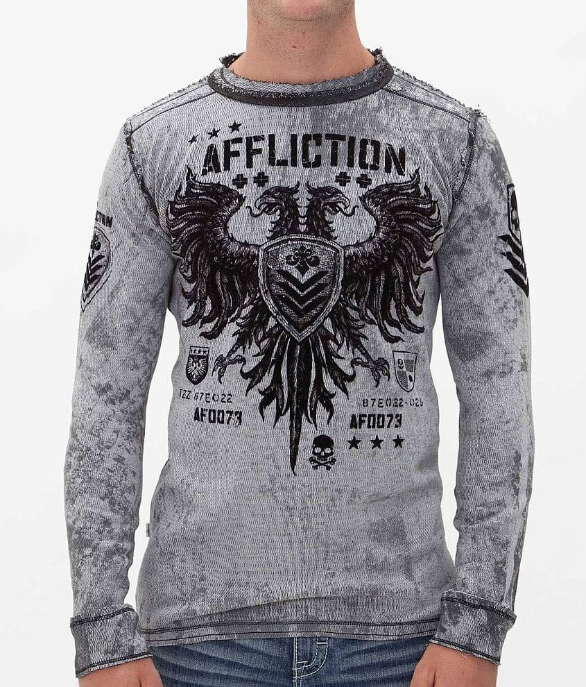 Affliction Value Reversible Thermal Shirt front view