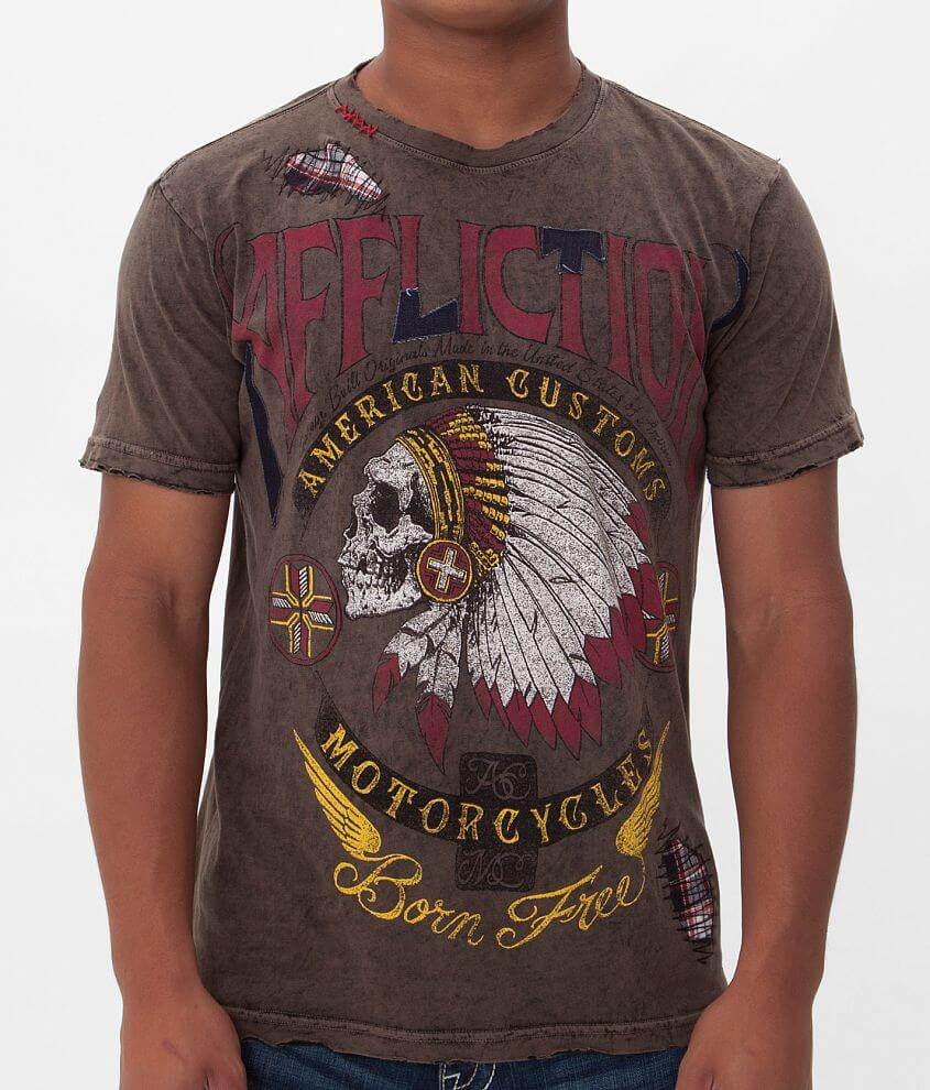 Affliction American Customs Hunters Eye T-Shirt front view