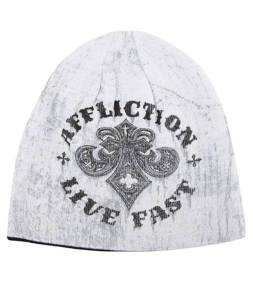 Affliction Royal Rust Reversible Beanie front view