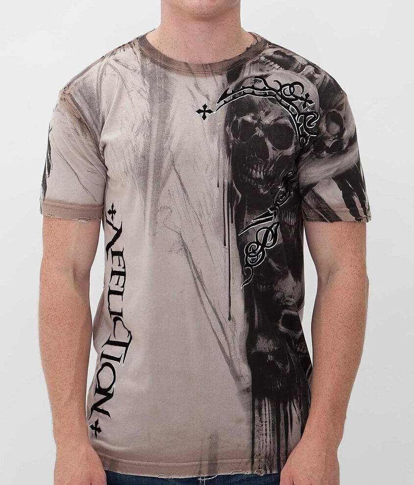 Affliction Walking Dead T-Shirt front view