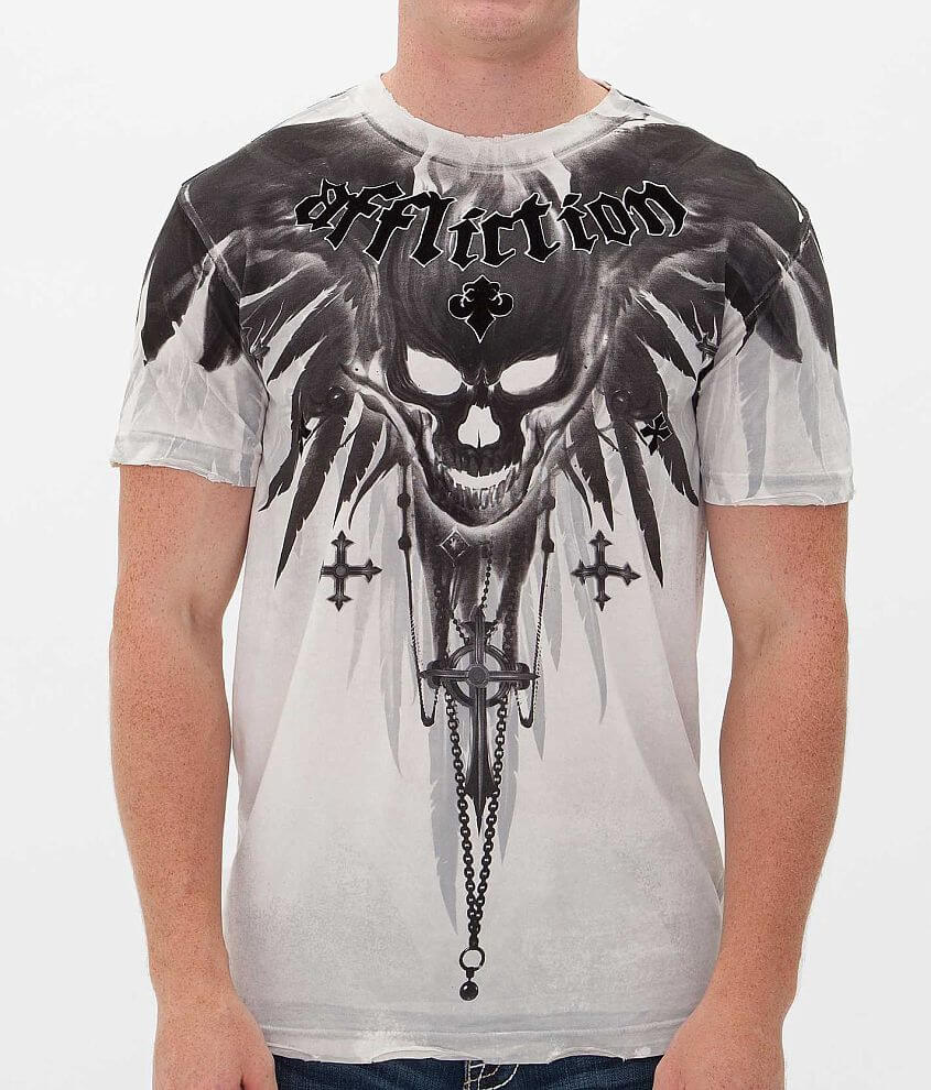 Affliction Silent Horror T-Shirt front view