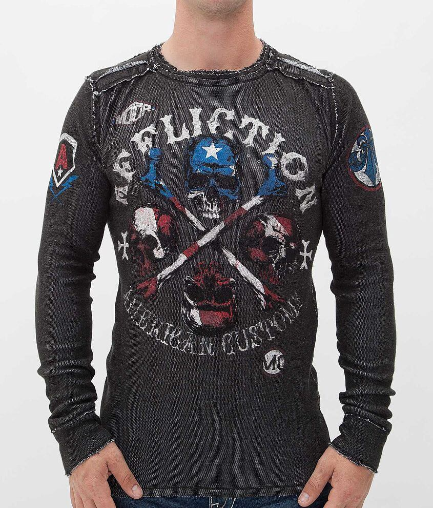 Affliction Apocalypse Thermal Shirt front view