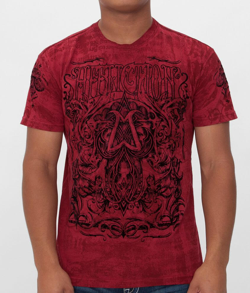 Affliction American Customs Cast Into T-Shirt front view