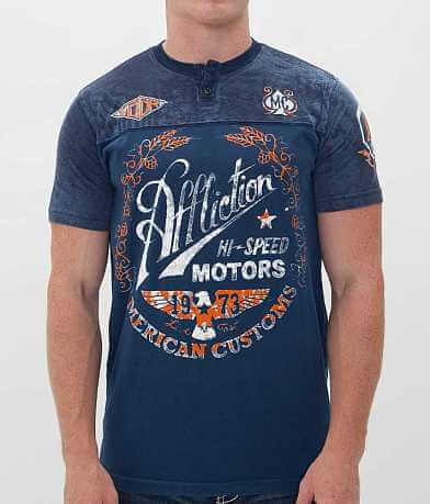 Affliction American Customs Fast Times Henley