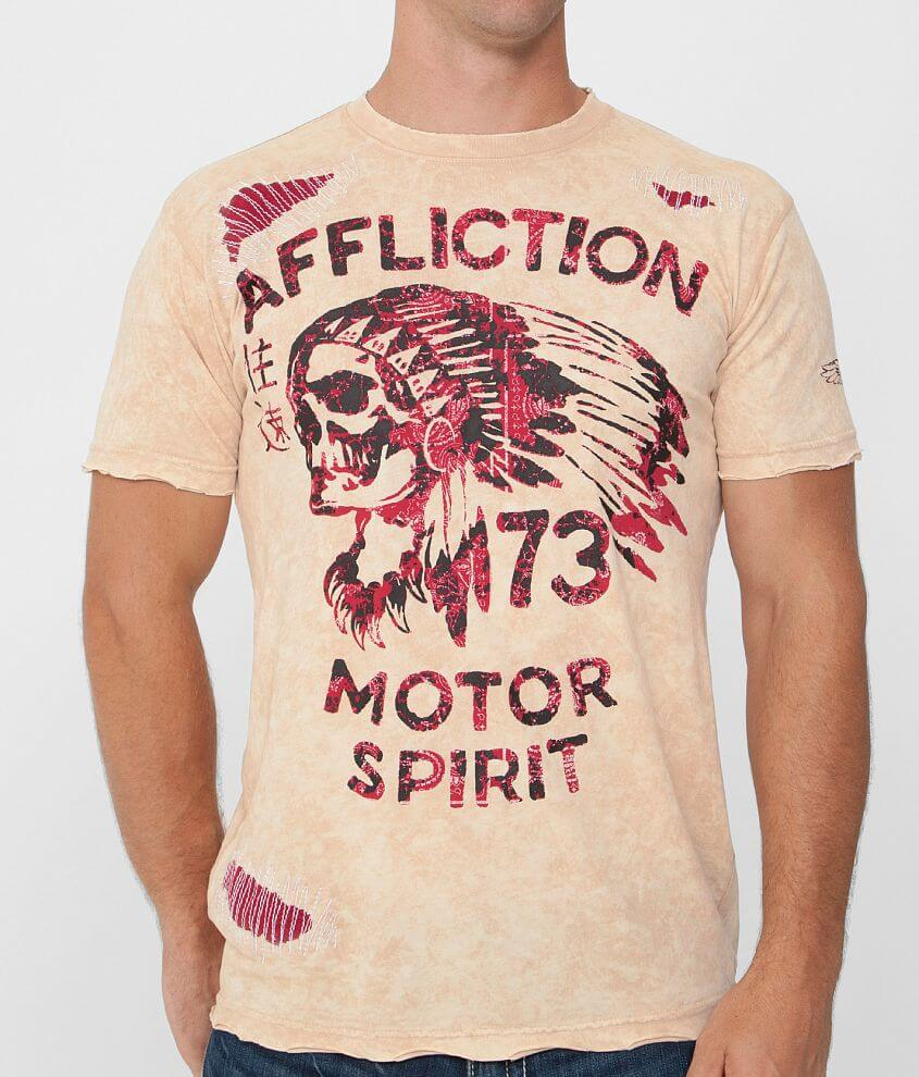 Affliction American Customs No Luck Chief T-Shirt front view