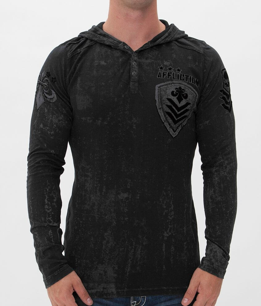 Affliction Value Thermal Hoodie front view