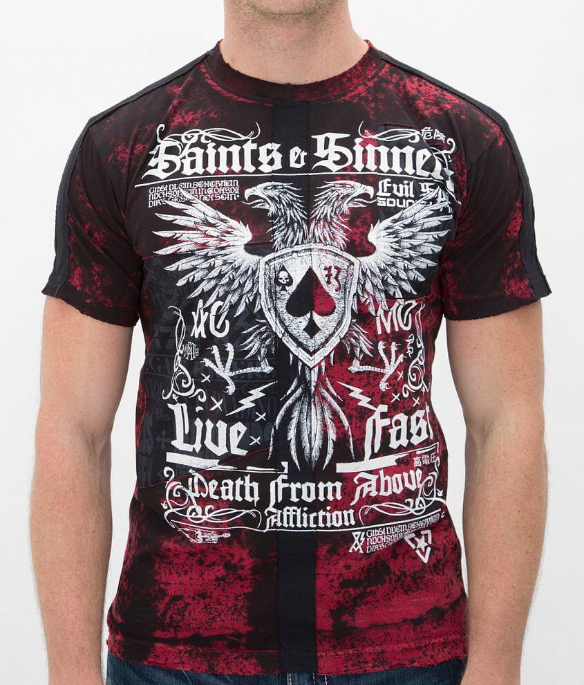 Affliction Saints & Sinners T-Shirt front view