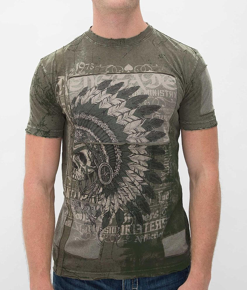 Affliction Souls of Black T-Shirt front view