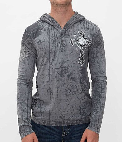 Affliction National Henley Hoodie