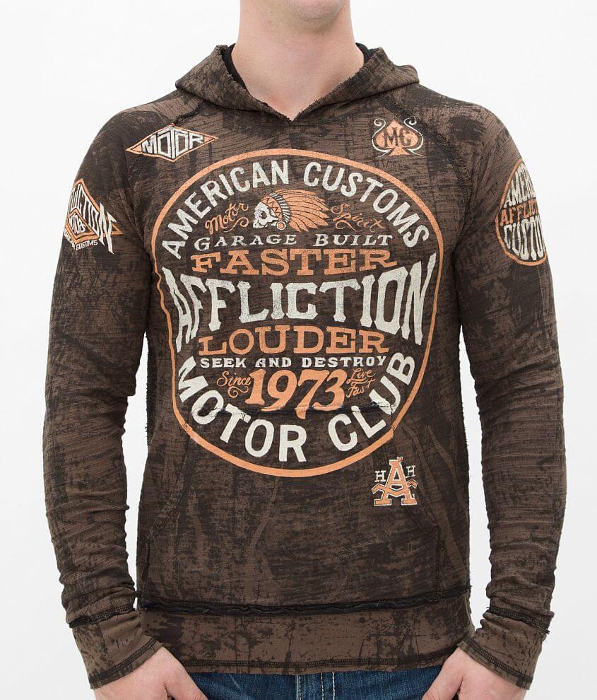 Affliction American Customs Petrol Sweatshirt front view