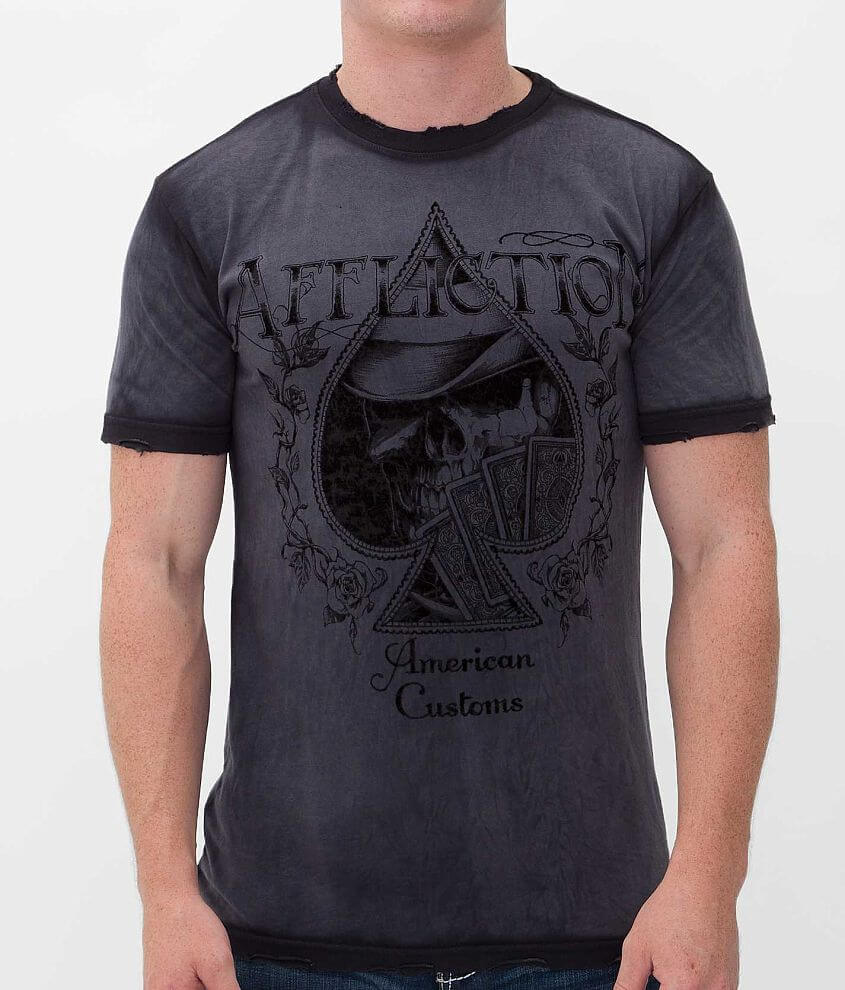 Affliction American Customs Aces High T-Shirt front view